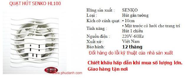 quat hut senko HL100