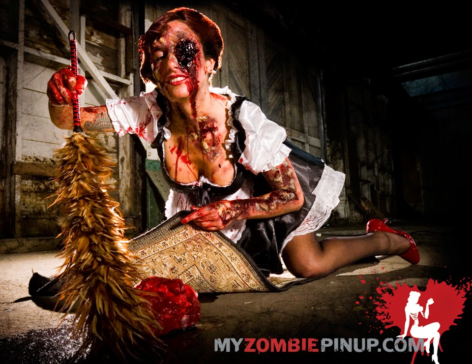 photo de femme de ménage zombie de my zombie pin-up