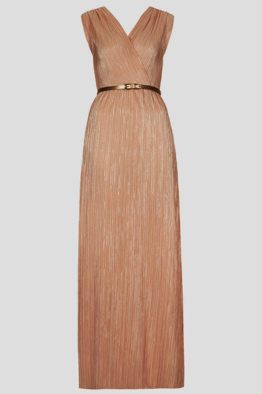 peach grecian dress
