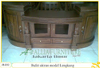 Bufet model ukiran kayu jati Lengkung