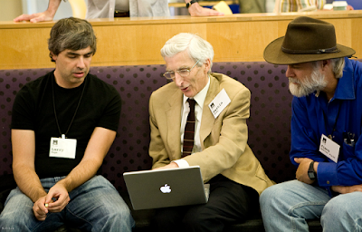 Google CEO Larry Page and Martin John Rees, Baron Rees of Ludlow