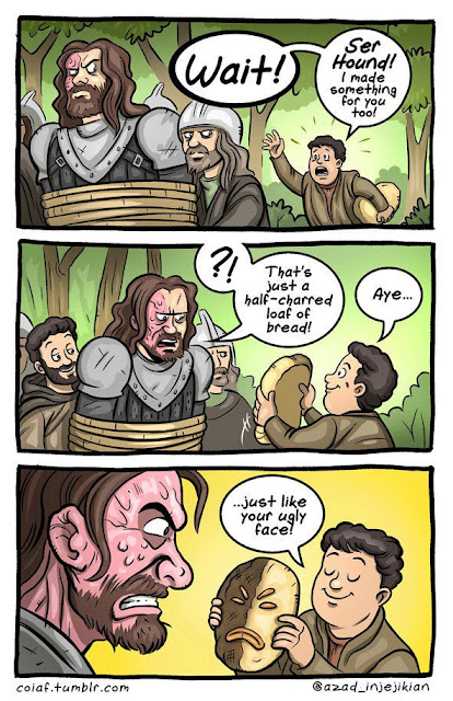 comic pastel caliente el perro sandor clegane - Juego de Tronos en los siete reinos