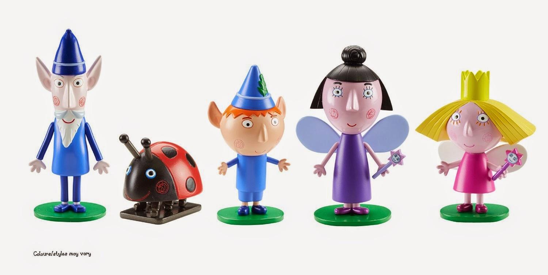 JUGUETES - Ben & Holly - Pack 5 Figuras   Nana Ciruela, Ben, Holly, Mariquita Gastón y el Viejo Duende Sabio  Producto Oficial | Bizak | A partir de 3 años
