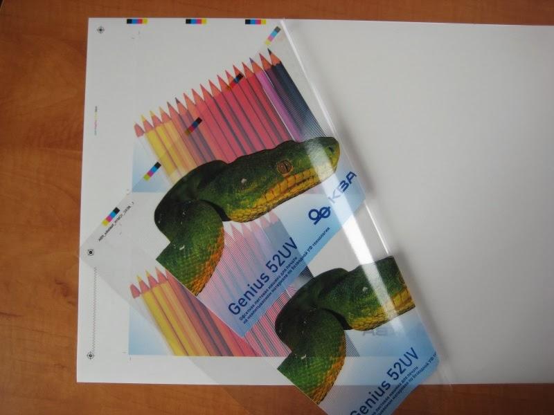 Печать на прозрачной плёнке самоклейке в Бресте