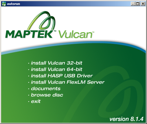 Installing Maptek Vulcan