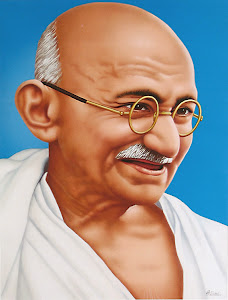 "My Inspiration is ""Mahatma Gandi"""
