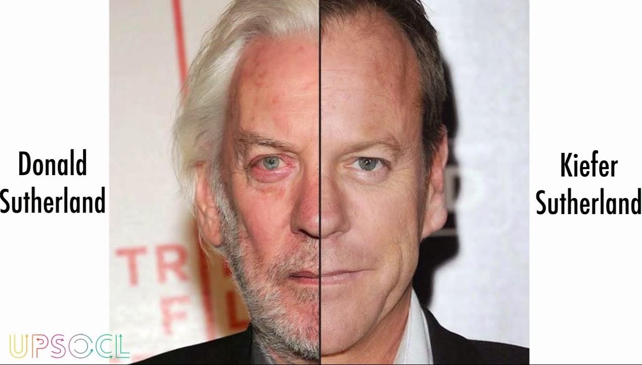 Personajes famosos que son iguales. Donald y Kiefer Sutherland.
