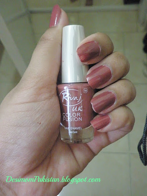 RIVAJ UK COLOR FUSION NAIL POLISH SHADE 58 swatch