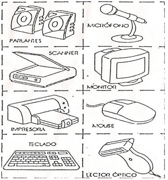 Dibujos partes de la computadora y sus funciones para colorear - Imagui