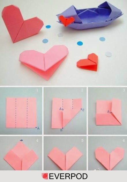 Easy And Simple Ways How To Fold Origami Paper Heart Creativehozz