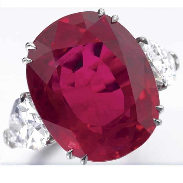 The 4 Million Dollars Heated Ruby sold at Sothebys