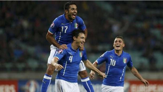 Italia Pastikan Tiket Nampil Di Piala Eropa 2016, Setelah Menaklukkan Azerbaijan