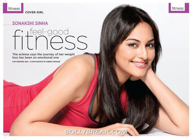 Sonakshi Sinha in Red Top Prevention Magazine - Sonakshi Sinha Prevention Magazine Scans - Fitness