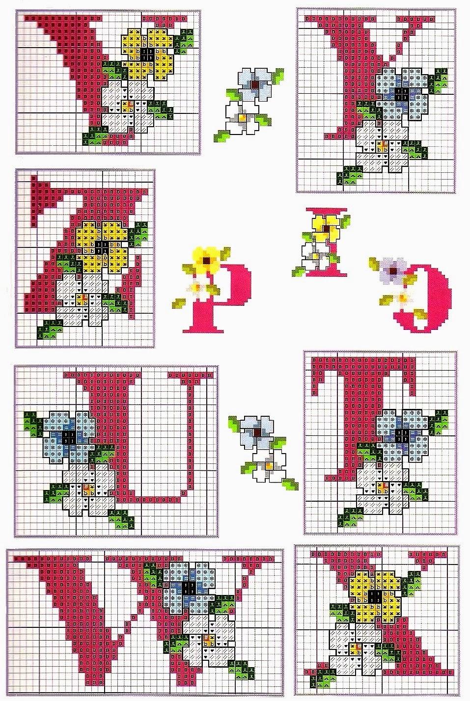 Grande raccolta di schemi e grafici per punto croce free for Alfabeto punto croce grande