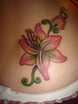 free designs tiger lily tattoo flowers