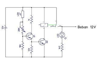 sensor cahaya dengan LDR