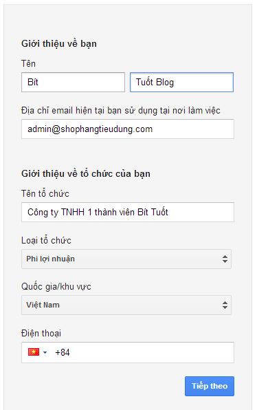 Hướng dẫn cách tạo email google theo tên miền web
