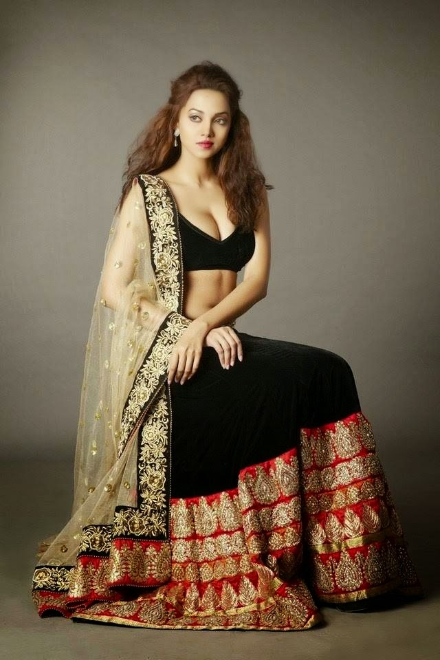 Anjali Gupta Lehnga-Choli and Saree Photoshoot