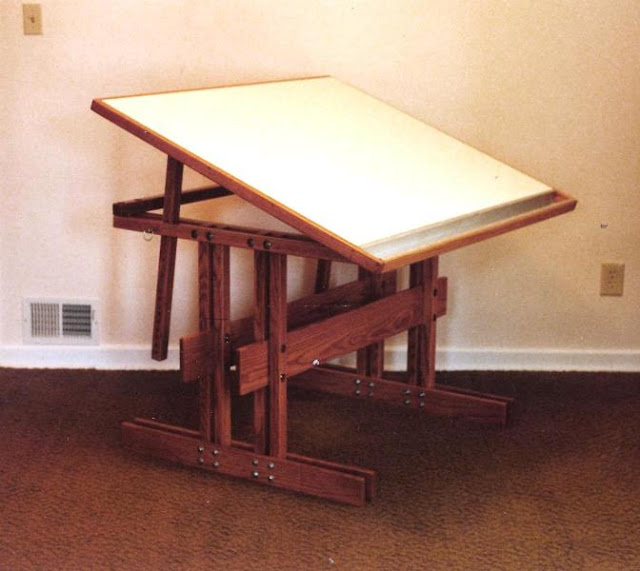 Drafting Machine And Table Fold Away Parallel Bar Studio