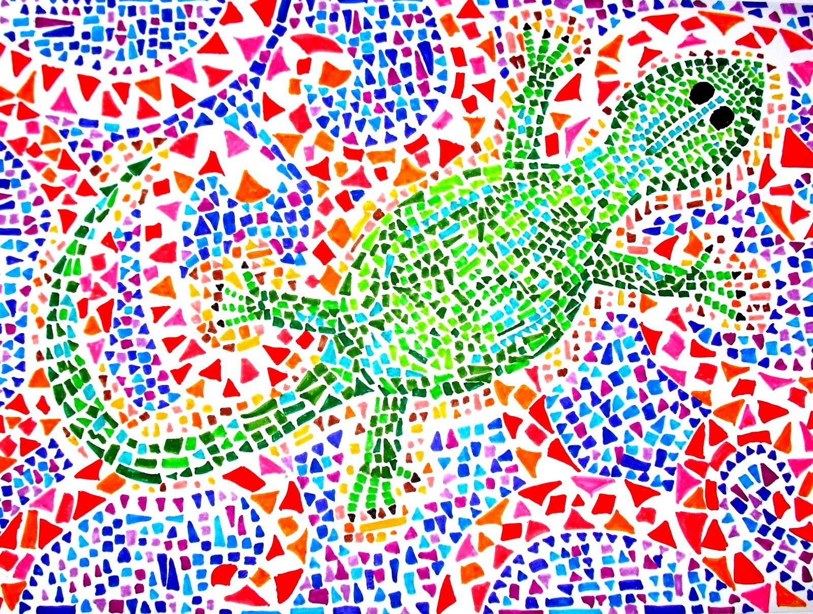 Pl stica cuatro l mina 1 3 estructuras animales for El mural de mosaicos