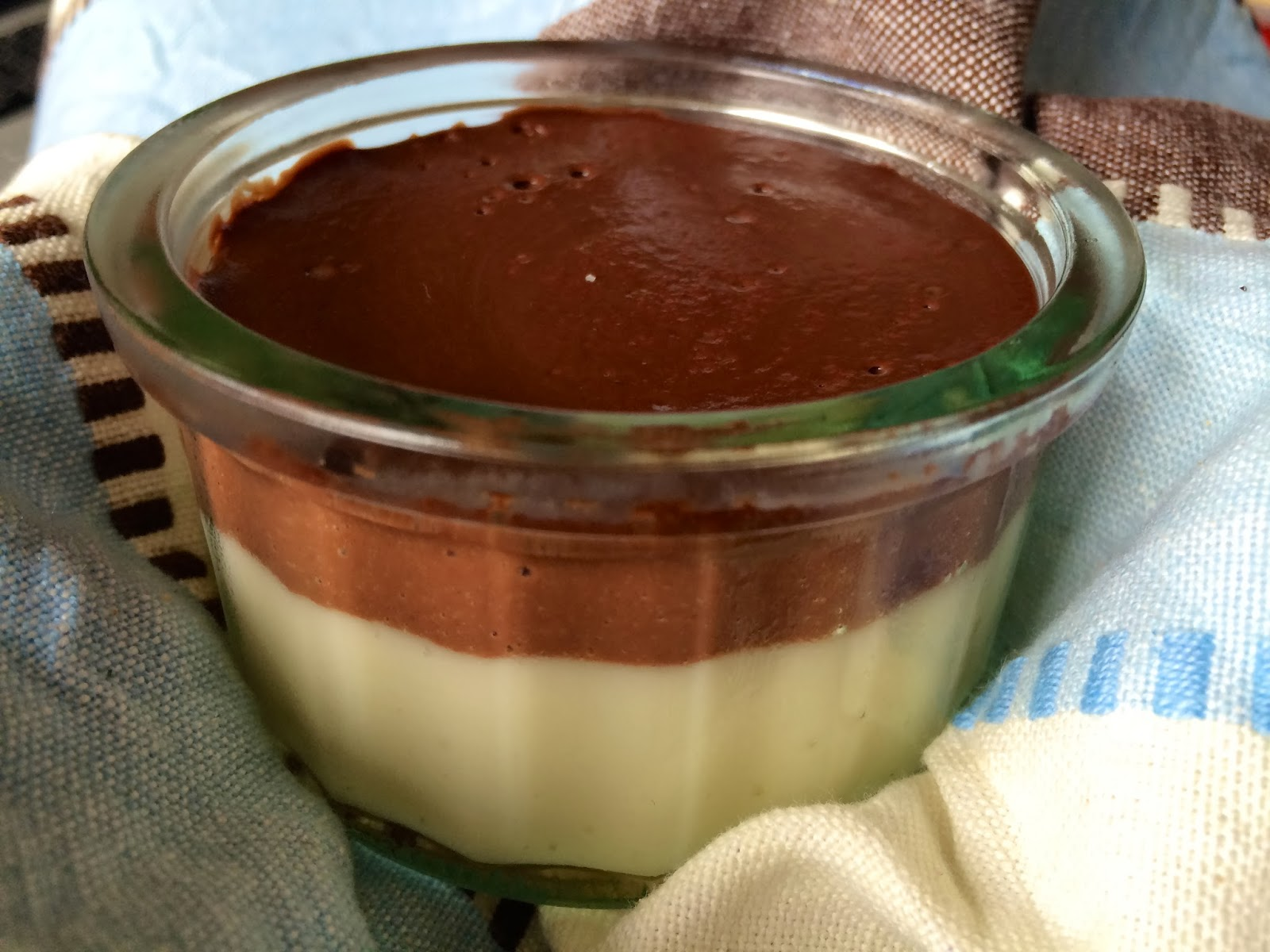 Thermomix Layered chocolate and vanilla custards / Natillas bicolor de chocolate y vainilla con la Thermomix