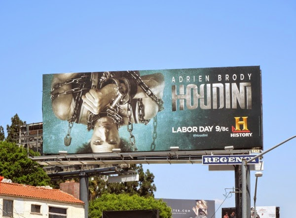 Houdini History mini-series billboard