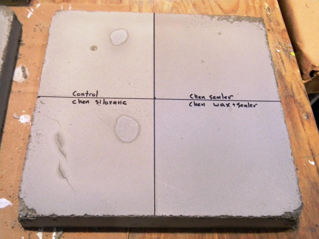 Creating Concrete Countertops: The Great Concrete Sealer Showdown ...