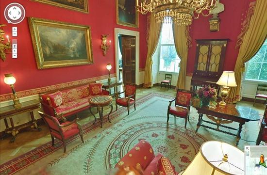 salon rouge de la maison blanche