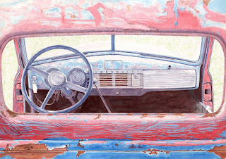 "1947 Chevrolet Truck - Watercolor - 14"" x 20"" - Before Warming"