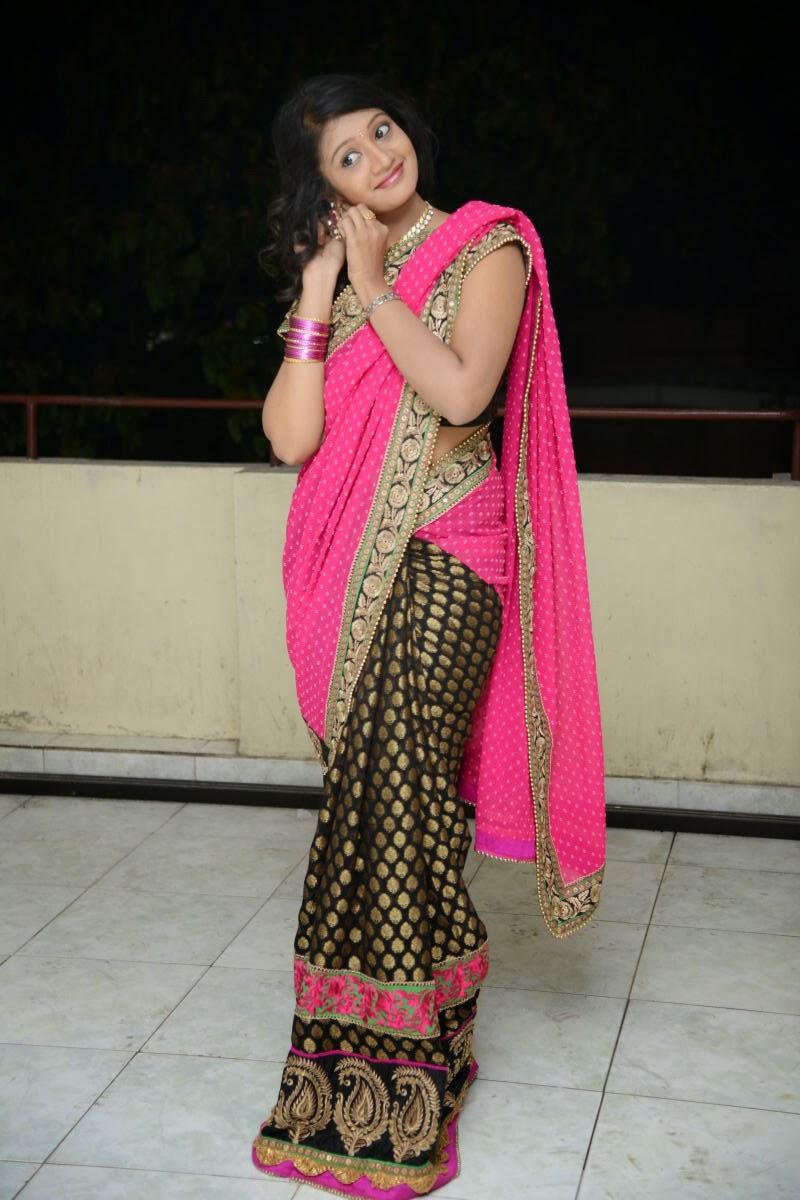 Sandeepthi Gorgeous in Designer Saree-HQ-Photo-12