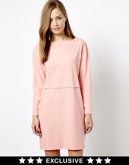 whistles dress asos pink
