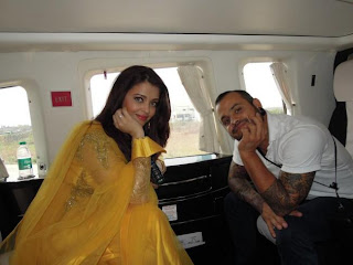 Aishwarya  with her make up artist Daniel Bauer photo shoot