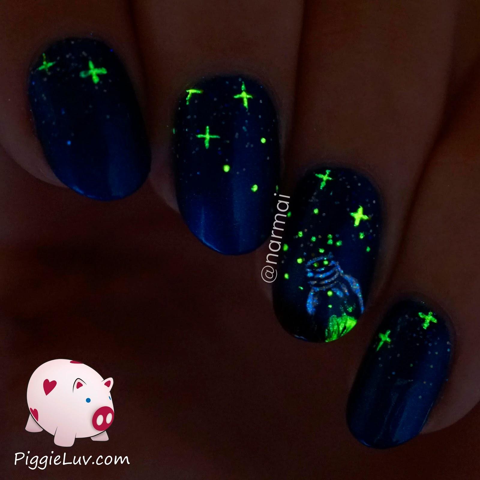 Fireflies Become Stars Nail Art