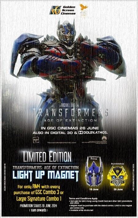 Promosi GSC - Transformers Light Up Magnet Head Edisi Terhad