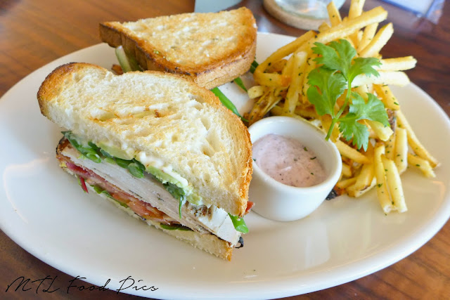 Bistro Chicken Club Sandwich - Bistro menu