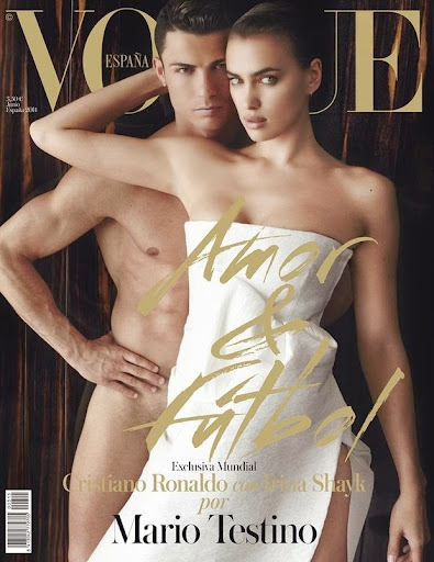 Irina Shayk Cristiano Ronaldo goes naked cover Vogue Spain June 2014