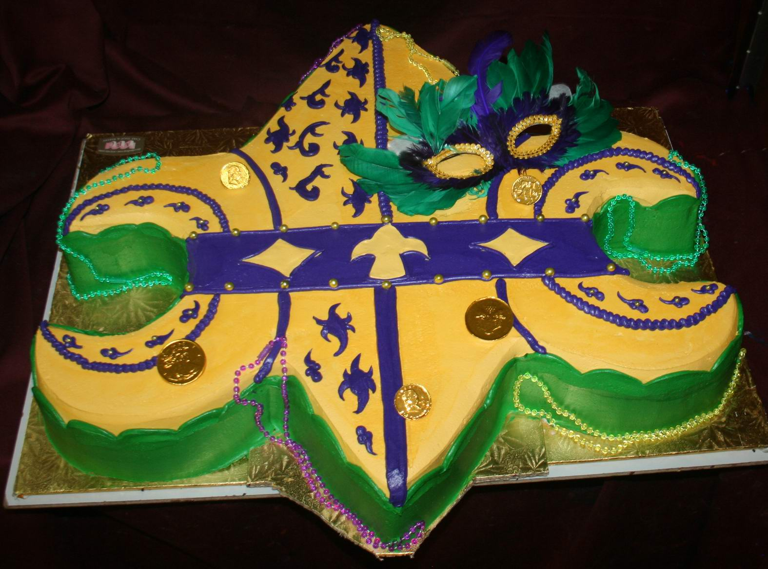 ABC Cake Shop and Bakery: Mardi Gras Grooms Cake