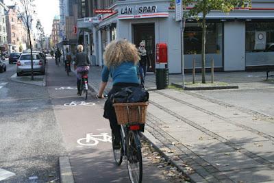 ciclovia na cidade de Copenhague, Dinamarca