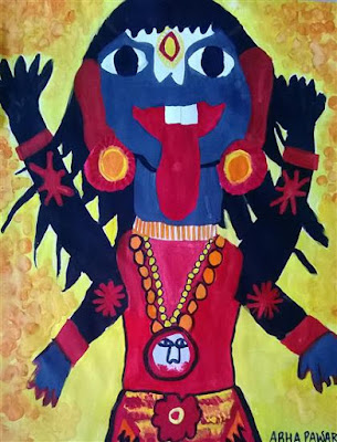 Painting by Abha Pawar, a child artist featured on Indiaart.com