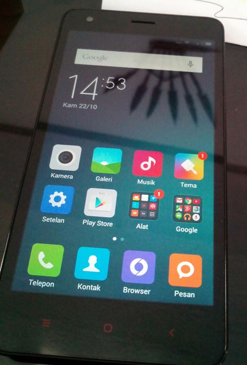 First Boot Redmi 2 Prime - First Boot Redmi 2 Prime - Home Screen