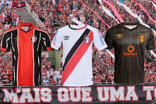 Uniformes I, II e III Umbro Joinville