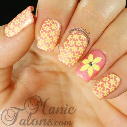 Stamped Flowers Manicure from Lily Anna 09