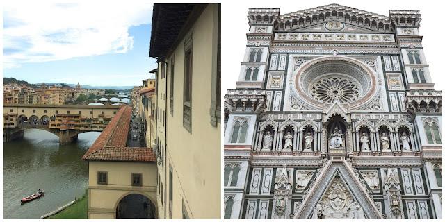 Ponte Vecchio and Cattedrale di Santa Maria del Fiore. Florence