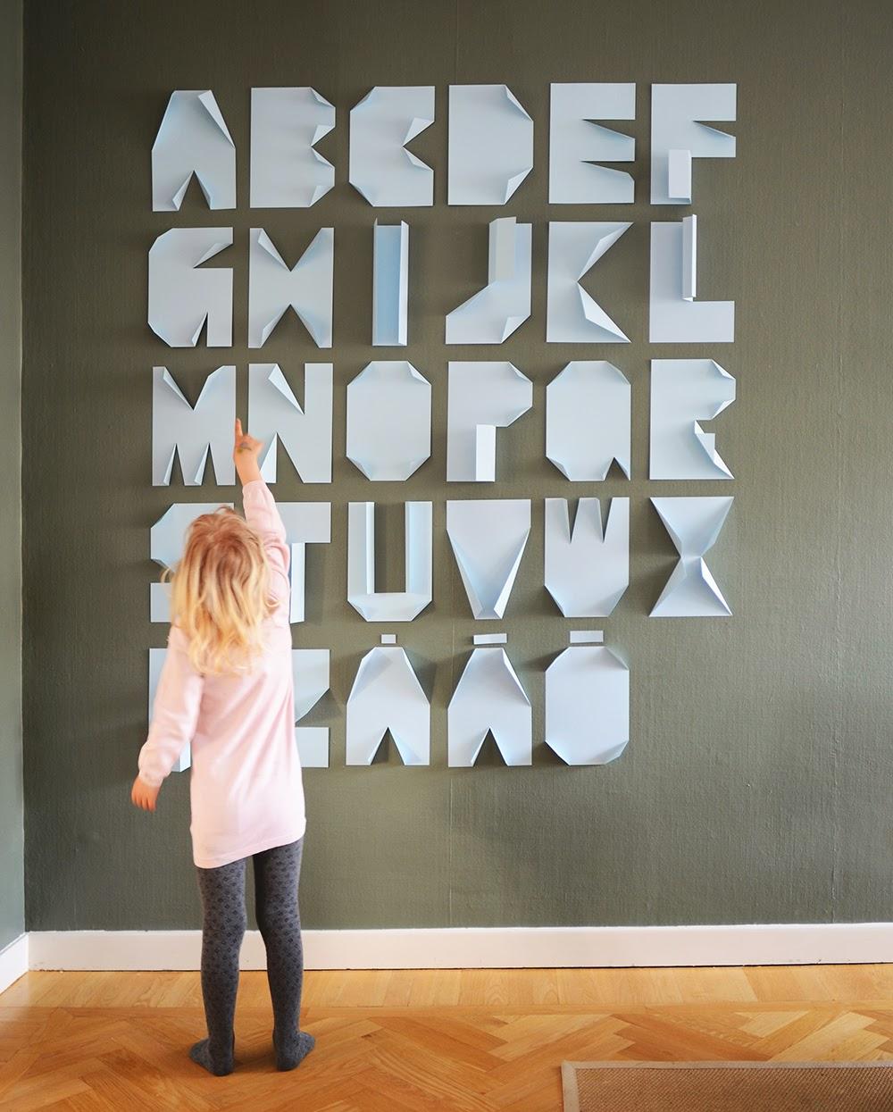 Mitt gröna lilla rum: diy  vik ditt eget alfabet av pappersark ...