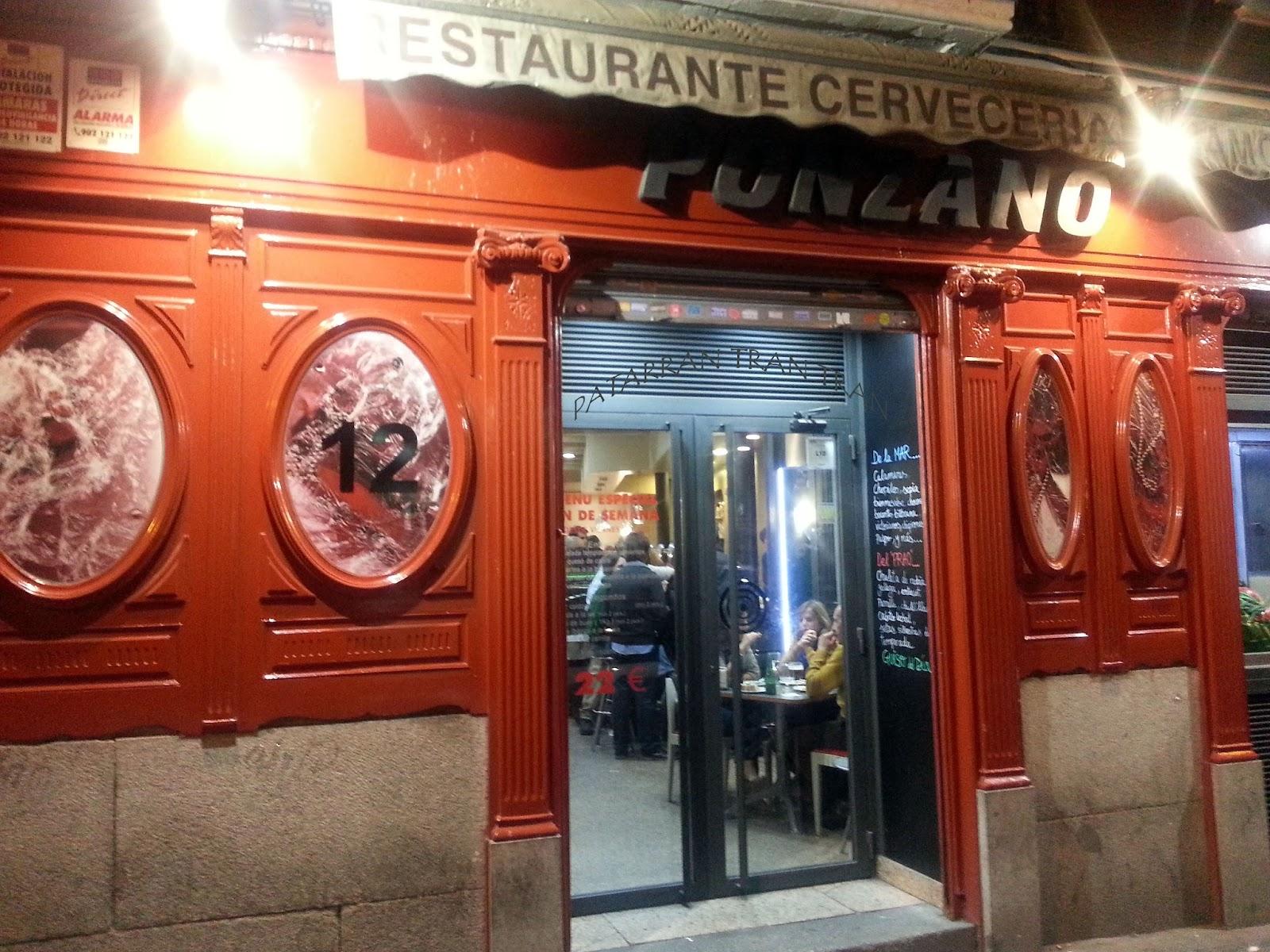 Restaurente Ponzano. Inspeccion Tabernaria. Calle Ponzano y aledaños