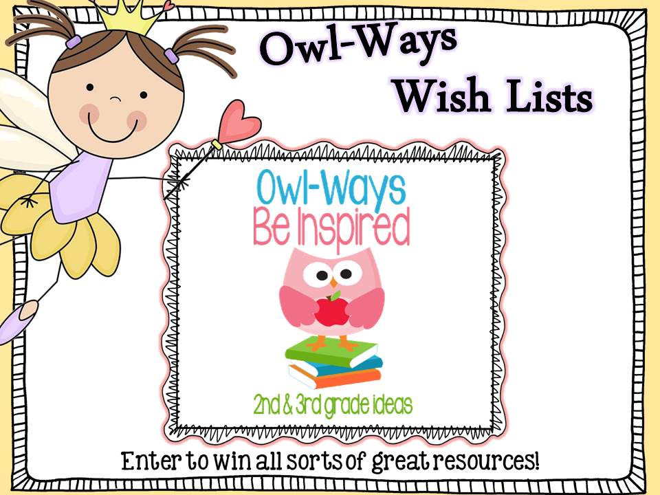 The Owl's Wish List Giveaway and TPT Sale!