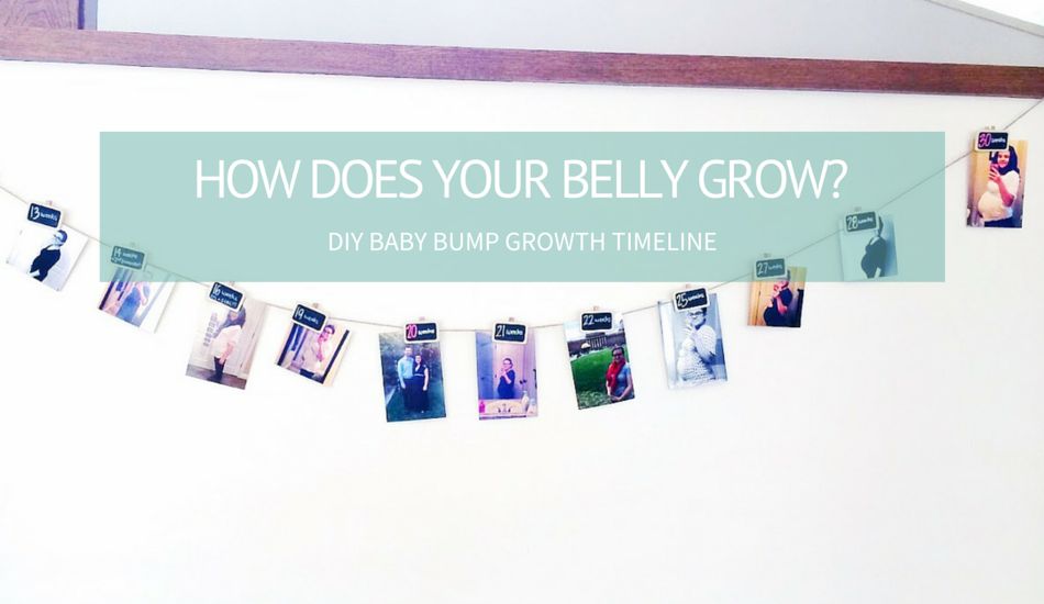 Diy Baby Bump Growth Timeline For Baby Shower Worthington Ave