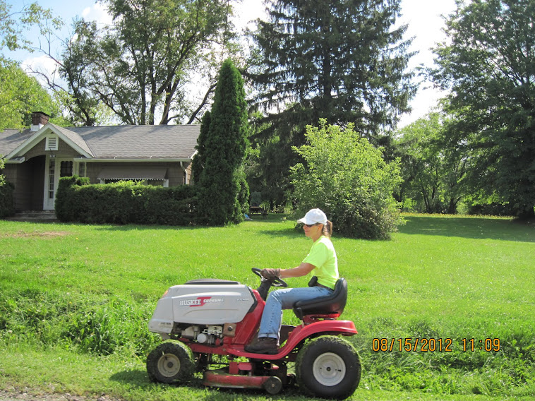 The Loco Hombre's aunt Debbie Stacey getting her Mow Money at a BLV councilman's house.