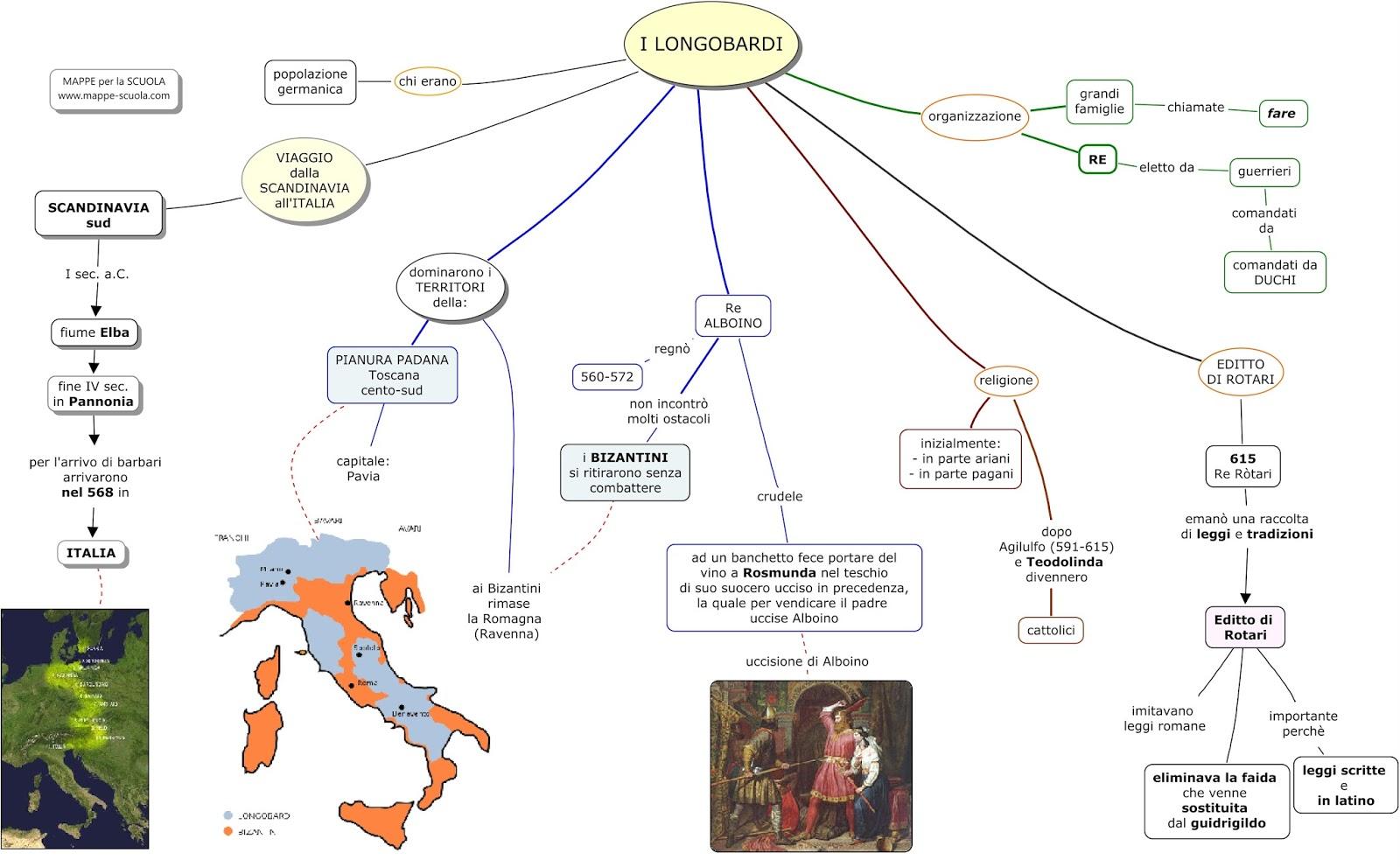 Alto medioevo unni e germani felici di studiare - Mappa dell inghilterra per i bambini ...