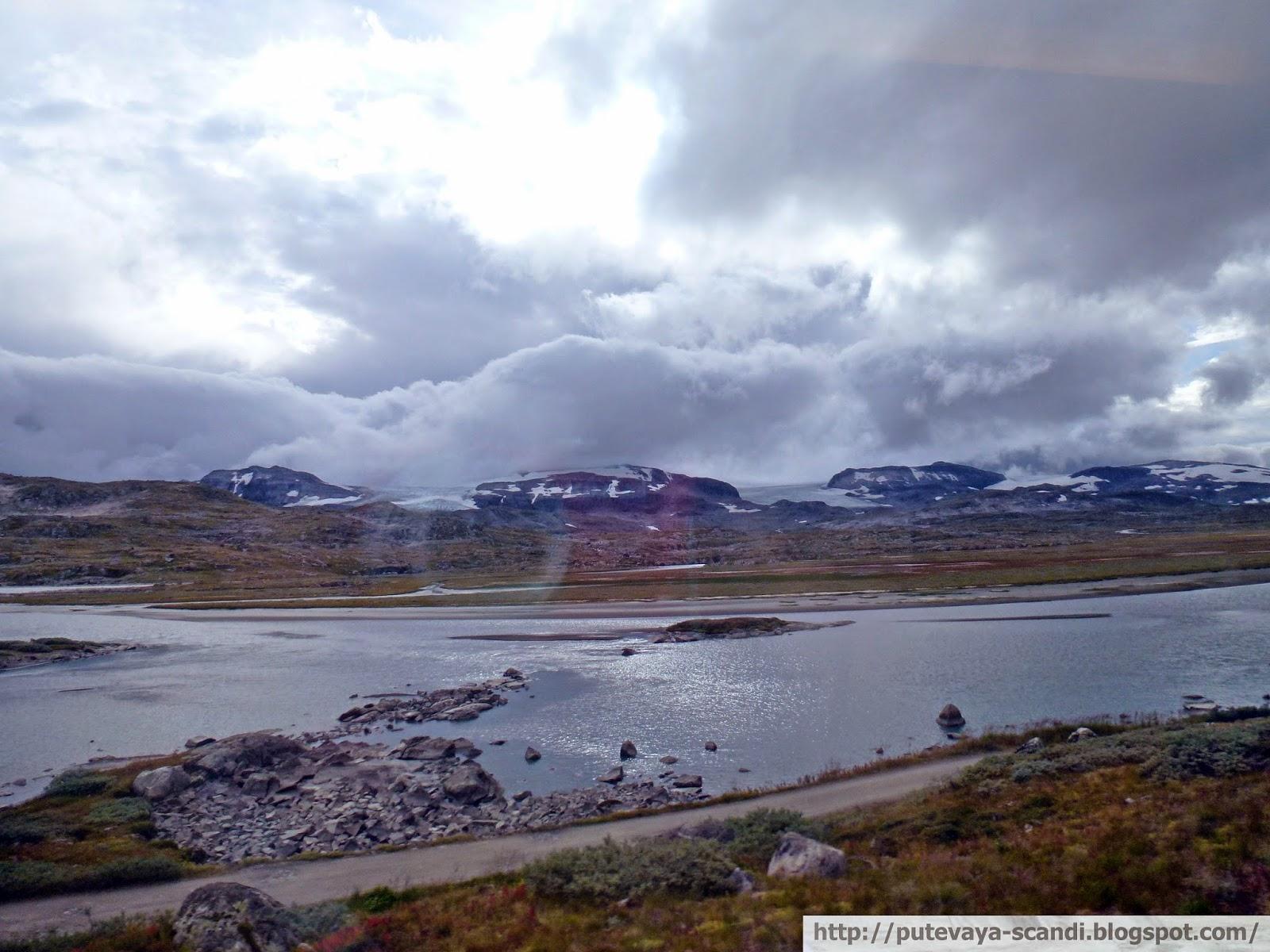 ледник: игра света и тени